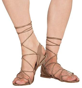 Women's Hermes Sandal,6243TAN10,Tan,1 US