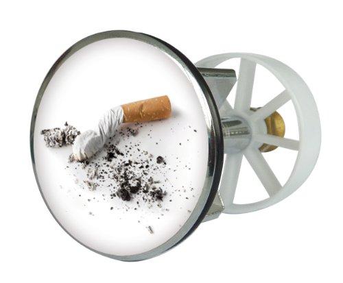 Waschbeckenstöpsel Design Zigarettenpause   Abfluss-Stopfen aus Metall   Excenterstopfen   38 - 40 mm