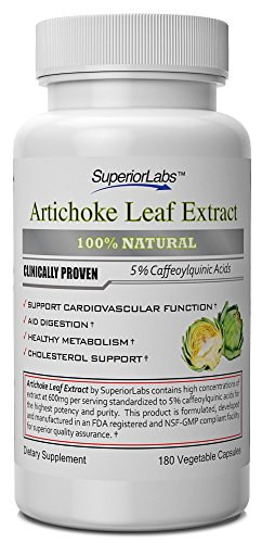 #1 Artichoke Leaf Extract - Powerful 600Mg, 180 Capsules - Formulated And Manufactured In Usa - 100% Money Back Guarantee