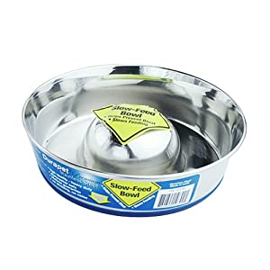 Durapet Stainless Steel Slow Feed Dish SMALL