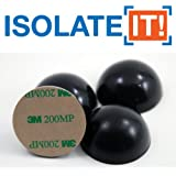 """1.5"""" Sorbothane Hemisphere Rubber Bumper Non-Skid Feet with Adhesive 50 Durometer - 4-Pack"""