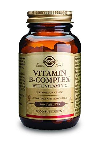 Solgar Vitamin B-Complex with Vitamin C Tablets - 100 tablets