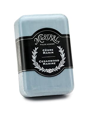 Mistral Men's Soap, Cedarwood Marine, 250 Grams