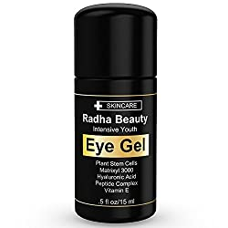 Eye Gel for Dark Circles, Puffiness, Bags & Wrinkles - The most effective eye gel for every eye concern - All Natural - .5 fl oz