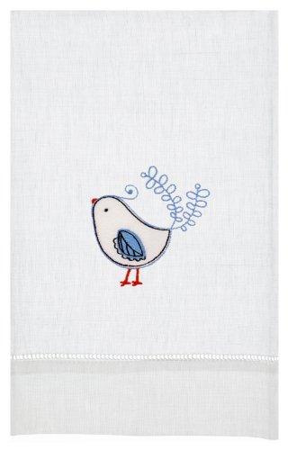 Curious Bird Linen Tea Towel