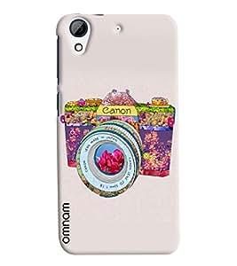Omnam Colorful Canon Camera Made Printed Designer Back Cover Case For HTC Desire 626