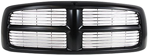 Evan-Fischer EVA17772021821 Grille Assembly Grill Plastic shell and insert Black with chrome (2004 Dodge Ram 1500 Grill compare prices)