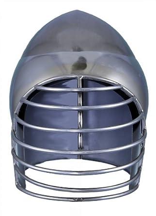 RedSkyTrader Mens Bascinet Wire Mask Armor Helmet One Size Fits Most Metallic