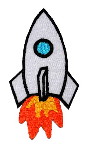 Cute Rocket Space DIY Embroidered Sew Iron on Patch RK-001 (Cheap Iron On Patches compare prices)
