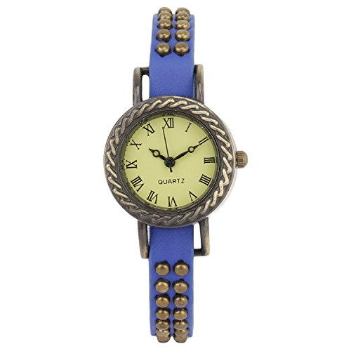 COSMIC DESIGNER BLUE STRAP ANALOG WATCH FOR WOMEN WITH STONE STUDDED