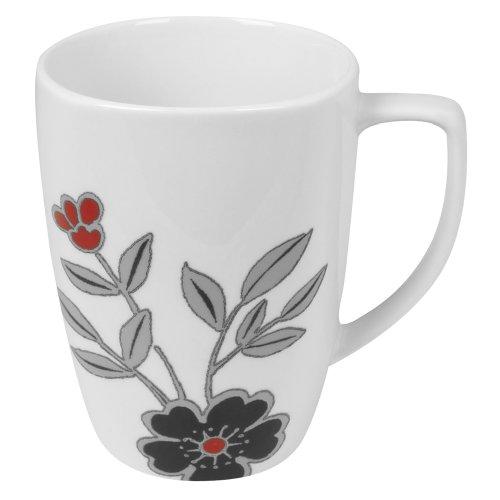 Corelle Mandarin Flower Square Round 12-Ounce Porcelain Mug