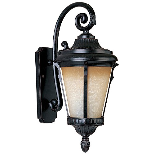 Maxim Lighting 86014LTES One Light Latte Glass Espresso Wall Lantern, Miscellaneous