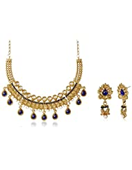 Sia Art Jewellery Gold Plated Jewellery Set For Women (Golden) (AZ2984)