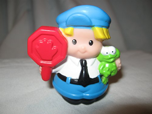 Fisher Price Little People RARE Neighborhood School Playground House Family FRiends Police Bus Driver Crossing Guard EDDIE OOP 2009 - 1