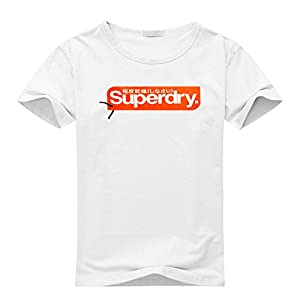 Superdry For Women's Printed Short Sleeve Tee Tshirt X-Large White