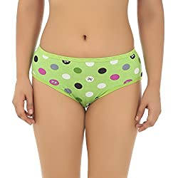 Gujarish Stylish Green Cotton Panties
