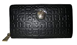 Tommy Hilfiger TH Signature Coin Logo 6 Wallet, Black, One Size