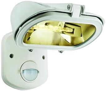 Elro ES128W Projecteur Eco-Halogène Blanc 120 W avec Détecteur de