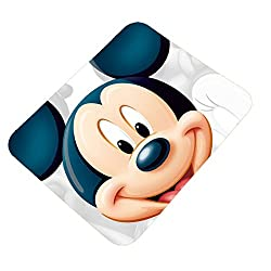 Clapcart Mickey Mouse Design Printed Rubber Base Mat finish Mouse Pad For PC / Laptop - Multicolor