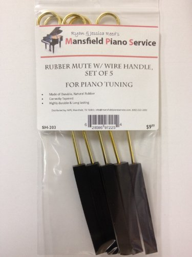 Rubber Mute w/Wire Handle for Piano Tuning -