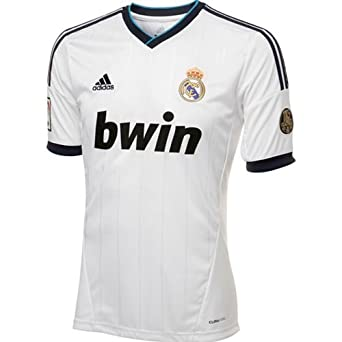 Real Madrid Home Authentic Soccer Jersey, Small