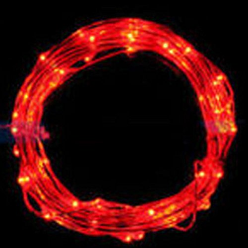 Euone 2M String Fairy Light 20 LED Battery Operated Xmas Lights Party Wedding Lamp (red)