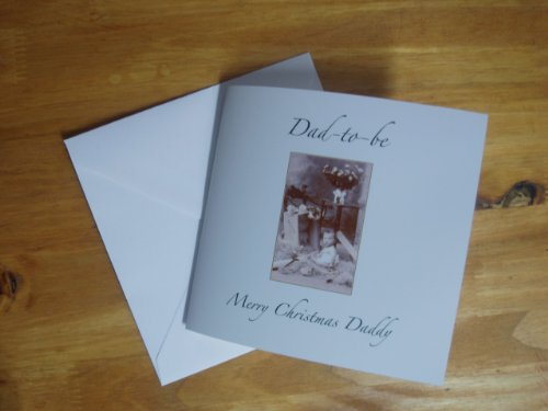 Handmade Dad-to-be Classic Traditional Christmas card - Send your husband, boyfriend, fiance or son a card he'll never forget!