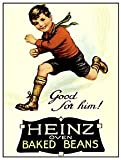 Heinz Oven Baked Beans - Good for Him! Retro Postcard