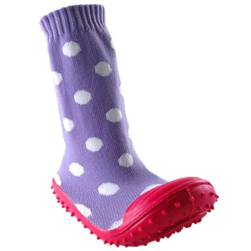 Buy Girl Non-Skid Rubber Sole Socks, Purple, 9-12 months Online Store