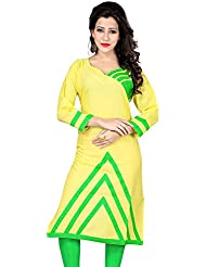Nirja Trendy Lime Green Color Stylish Fancy Designer Kurti