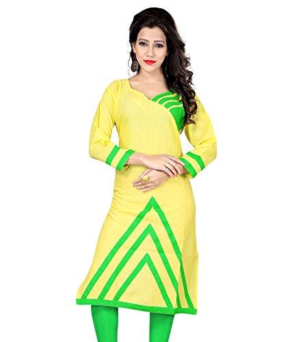 Nirja Trendy Lime Green Color Stylish Fancy Designer Kurti