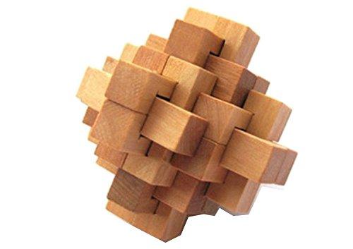B.T.S.S  頭の体操に!木製 立体パズル 大人の知育教育 頭の体操 玩具 /暇つぶしに 一人で遊ぶ バーカウンターで遊ぶ など
