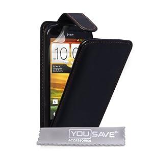 HTC One SV Tasche HTC One SV Schwarz PU Leder Flip Hülle
