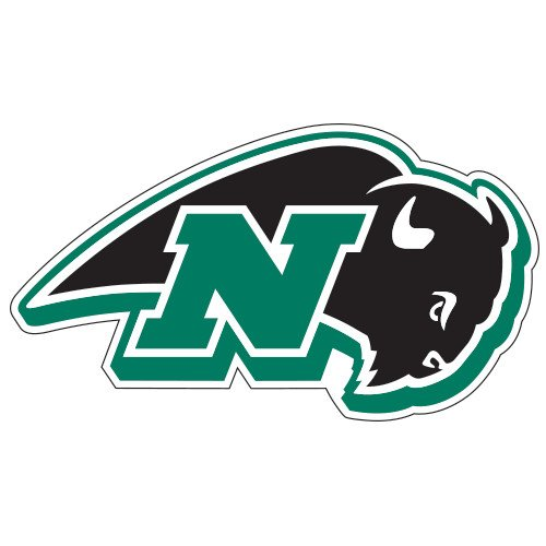 Nichols College Super Large Magnet 'N W/Bison' back-363387