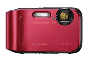 Sony DSC-TF1/R 16 MP Waterproof Digital Camera with 2.7-Inch LCD (Red)