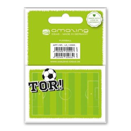 12de belles, étiquettes autocollantes 'Football' Amazing Ideas
