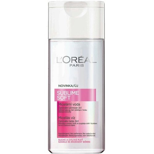 L'Oreal Paris Sublime Soft Micellar Water 3-in-1 Purifying Make-up Remover 6.75oz/200ml - 3 COUNT (3 x 6.75 oz)