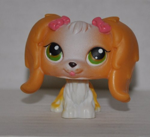 Maltese #79 (Brown, Green) - Littlest Pet Shop (Retired) Collector Toy - LPS Collectible Replacement Figure - Loose (OOP Out of Package & Print) - 1