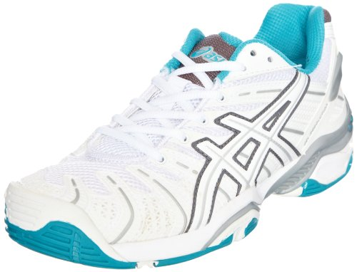 Asics Gel Resolution 4 Womens White/Lightning/Carbon Tennis Shoe E251N 0191 6.5 UK