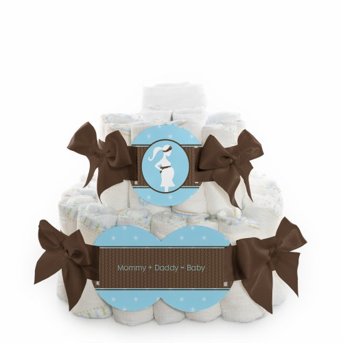 Mommy Silhouette It'S A Boy - 2 Tier Diaper Cake front-695737