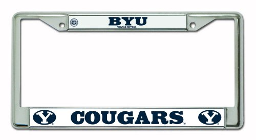 Brigham Young Oval Y Design Chrome Frame