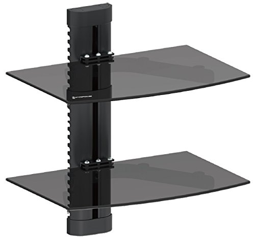 GForce GF-P1124-1138 DVD Wall Mount with 2 Shelves- Holds up to 32 lbs (Glass Shelves Hold compare prices)