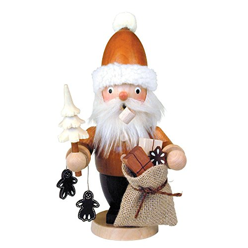 "1-301 – Christian Ulbricht Incense Burner – Santa with Sack and Ginger Bread Cookies – 8.25″""H x 4″""W x 3.5″""D"