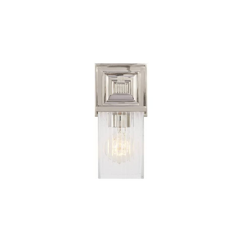 Visual Comfort AH2207PN CG Alexa Hampton 1 Light Rose Single Sconce in Polished Nickel with Crystal