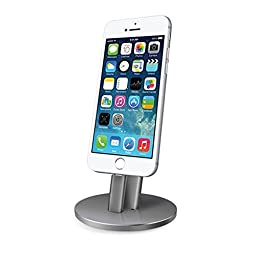 Apple iPad Pro Pencil Charging Stand,Adjustable Desktop Charging Stand for iPhone 6S/SE/5/5s/ 6 plus and iPad Pro Pencil Aluminum Charging Dock (Iron Gray)