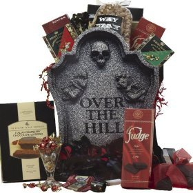 SCHEDULE YOUR DELIVERY DAY! Over The Hill Gourmet Food Gift Bag Tote - Birthday Gift Basket