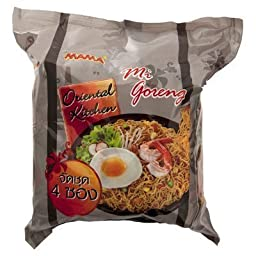 Mama Instant Noodles Mi Goreng Flavour 80g. (Pack of 4)