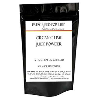 Dried lime juice powder