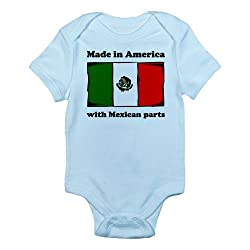CafePress Infant Bodysuit - Made In America With Mexican Parts Body Suit from CafePress