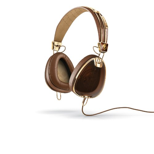 Skullcandy S6AVFM-157 Aviator Headphones with Mic3 (Brown/Gold)